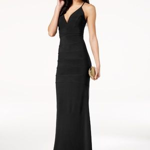Black gown with back lace cutout detail *NWT